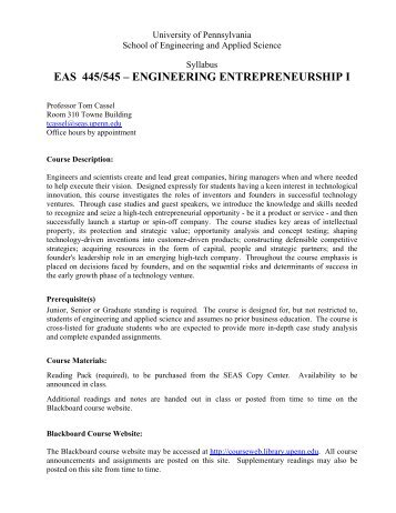 eas 445/545 - the School of Engineering and Applied Science ...