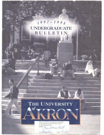 UNDERGRADUATE BULLETIN - The University of Akron
