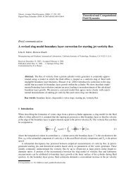Theoretical and Computational Fluid Dynamics Brief communication ...