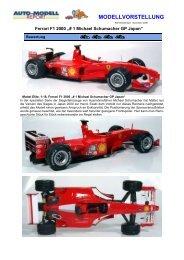 "Ferrari F1 2000 ""# 1 Michael Schumacher GP Japan"""