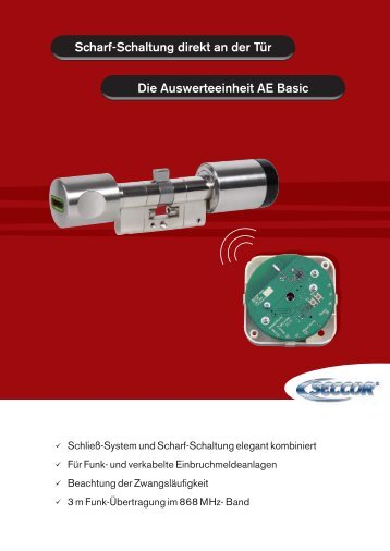 Die Auswerteeinheit AE Basic Scharf-Schaltung direkt an ... - Seccor