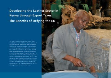 Developing the Leather Sector in Kenya through Export Taxes - Weed