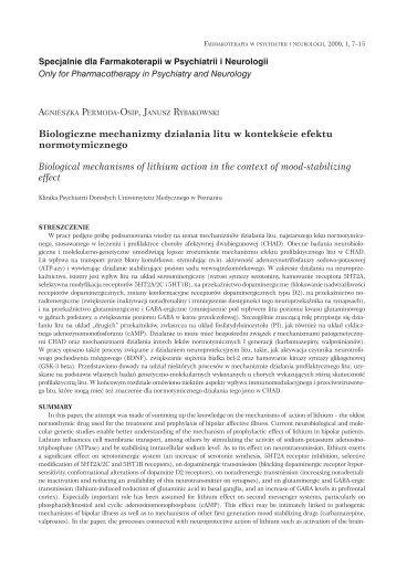 175 KB - Farmakoterapia w Psychiatrii i Neurologii