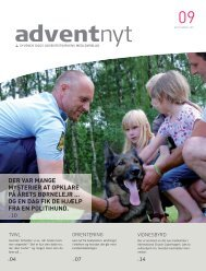 Adventnyt 2011-09.indd - Syvende Dags Adventistkirken