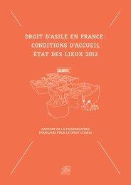 droit d'asile en france : conditions d'accueil état des lieux 2012