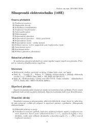 Osnova předmětu a požadavky k zápočtové písemce