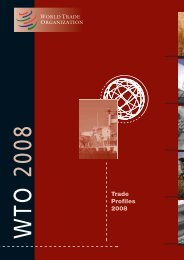 WTO 2008 - World Trade Organization