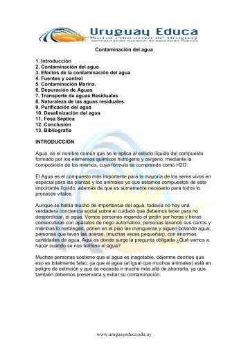 Contam. agua - Uruguay Educa