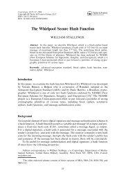 The Whirlpool Secure Hash Function - SEAS