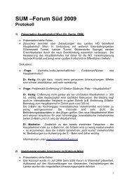 Protokoll zur Diskussion - Stadt-Umland Management