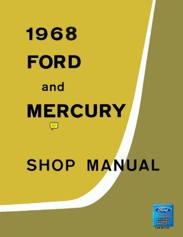 DEMO - 1968 Ford and Mercury Shop Manual - ForelPublishing.com