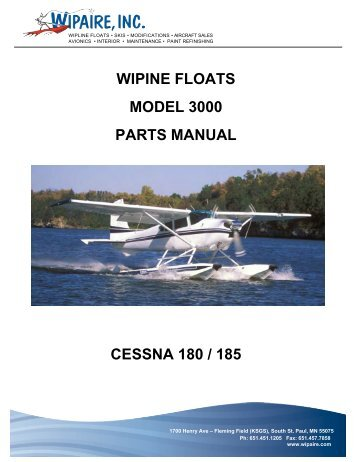 Cessna 180 parts manual