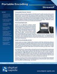 Portable Encoding - Video Media Solutions