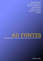 AD FONTES Europäisches Forum Junger Rechtshistoriker/innen ...