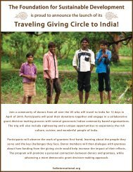 Giving Circle - Foundation for Sustainable Development