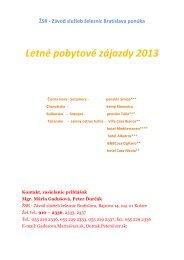 Katalóg zájazdov ZSŽ 2013 - ŽSR
