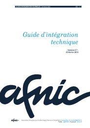 Téléchargez le guide d'intégration technique - Afnic