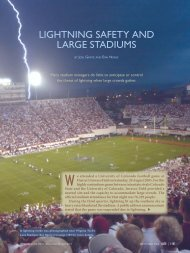 lightning safety and large stadiums - American Meteorological Society
