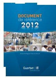 Consultez le Document de Référence 2012 - Guerbet