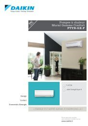 Pompes à chaleur Mural Gamme Confort FTYN-GX-F - Confotech