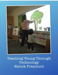 Teaching Young Through Technology - Natick Public Schools