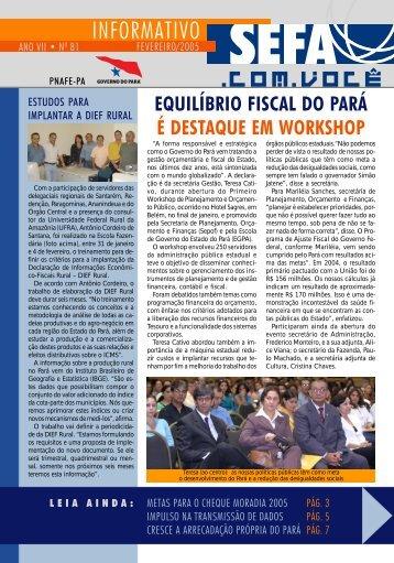 Informativo nº 81 - Fevereiro - Sefa - Governo do Estado do Pará