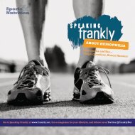 Sports Nutrition - Speaking Frankly