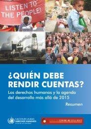¿quién debe rendir cuentas? - Center for Economic and Social Rights