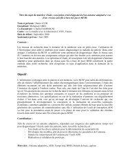 Titre du sujet de mastère: Etude, conception et développement d'un ...