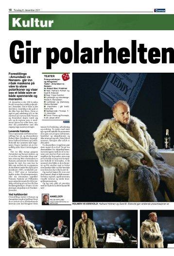 Anmeldelse iTromso(283 KB) - HÃ¥logaland Teater