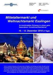 Mittelaltermarkt und Weihnachtsmarkt Esslingen - SERVRail