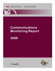 CRTC Communications Monitoring Report