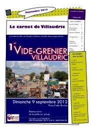 Le carnet de Villaudric