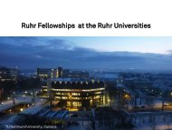 Ruhr Fellowships at the Ruhr Universities - SEAS