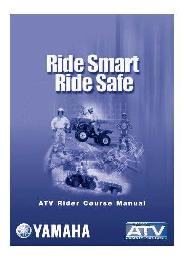 ATV Rider Course Manual – Yamaha Motor Australia
