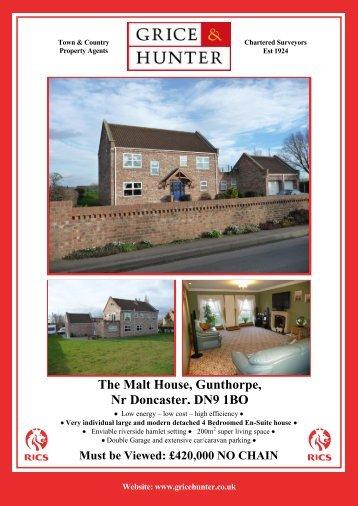 The Malt House, Gunthorpe, Nr Doncaster, DN9 1BQ - Grice & Hunter