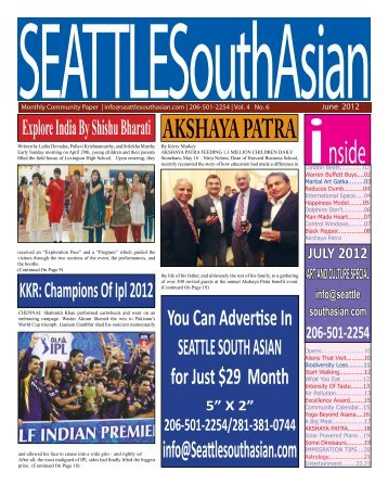JUN '2012 - Seattle South Asian