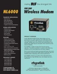 NL6000 Spec Sheet - RF Neulink