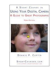Using Your Digital Camera - PhotoCourse