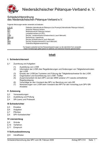 OMV 2011 NPV 014 A1 Schiedsrichterordnung - Planetboule