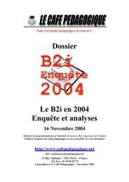 dossier B2i - Café pédagogique