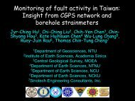 Insight from CGPS network and borehole ... - Academia Sinica