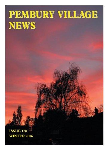 Issue 128 - the Pembury Village Website