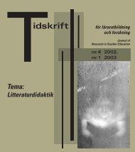 Tidskrift för lärarutbildning och forskning 4-02/1-03