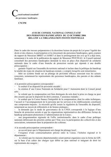 cncph avis du conseil national consultatif des personnes ... - Uniopss
