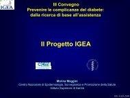 Il Progetto IGEA - EpiCentro - Istituto Superiore di Sanità