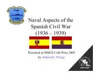 Naval Aspects Spanish Civil War - Clash of Arms