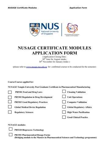 Nusage Parexel Post Graduate Certificate In Clinical Trial