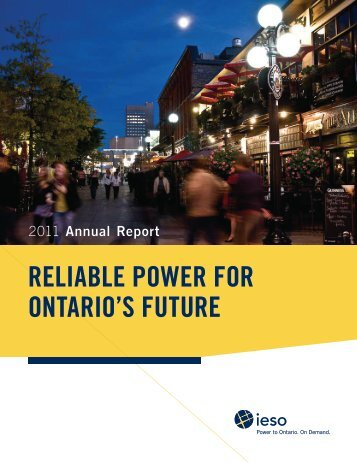 2011 IESO Annual Report - Independent Electricity System Operator