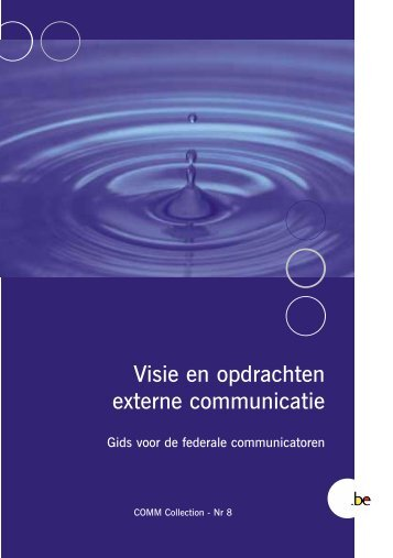 COMM Collection 8 Visie en opdrachten externe communicatie